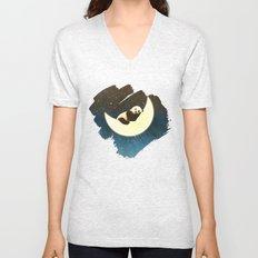 Sleeping Panda on the Moon Unisex V-Neck