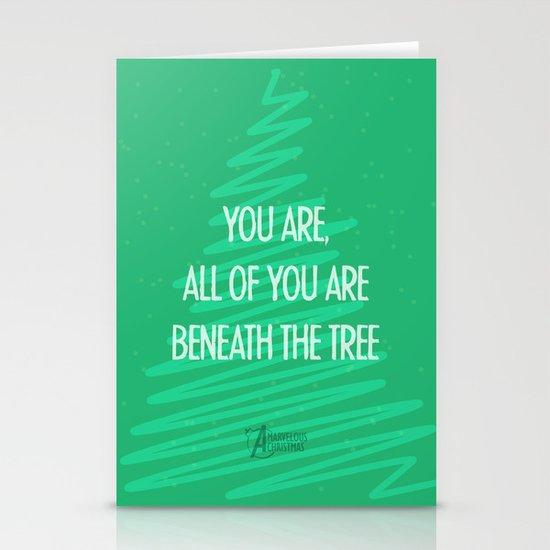 Beneath the tree Stationery Card
