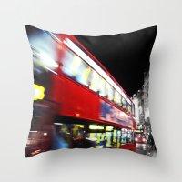 double decker Throw Pillow