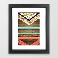 chevron  wood design Framed Art Print