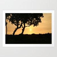 Kona Sunset Art Print