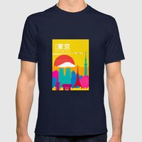 Travel To Tokyo Mens Fitted Tee Navy SMALL