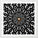 Black and White Pattern 3  by Saribelle Rodriguez Art Print