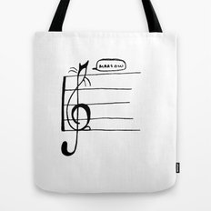 Treble Clef Cat Tote Bag