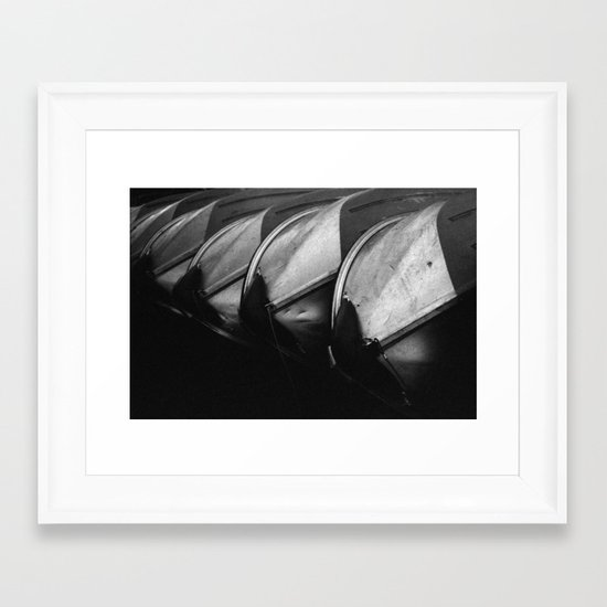 Row Boats 3 Framed Art Print