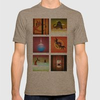 6 Mamaws Mens Fitted Tee Tri-Coffee SMALL