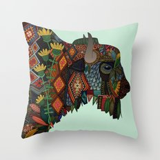 bison mint Throw Pillow