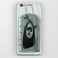 Whale In A Bottle | Trea… iPhone & iPod Skin