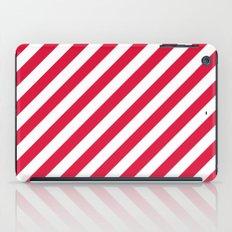 Diagonal Stripes (Crimson/White) iPad Case