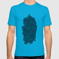 - nude on the grass - Mens Fitted Tee Teal SMALL