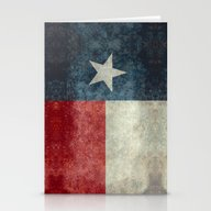 Texas State Flag, Vertic… Stationery Cards
