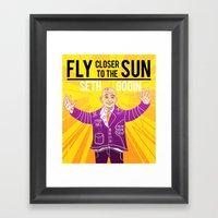 Fly Closer To The Sun Framed Art Print