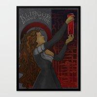 Klingon Blood Wine Canvas Print