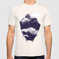 Floating City Mens Fitted Tee Natural SMALL