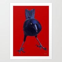 Black On Red Art Print