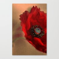 Canvas Print featuring Poppies(romantic). by Mary Berg