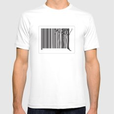 Treecode SMALL White Mens Fitted Tee