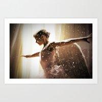 Angel Ballerina Art Print