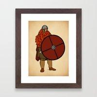 Red Beard 2 Framed Art Print