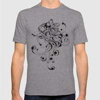 Fox Girl Mens Fitted Tee Athletic Grey SMALL