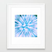 TIE DYE - LIGHT BLUE Framed Art Print