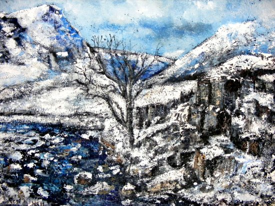 Glencoe snows Art Print