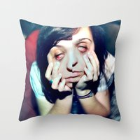 I hate taking the bus home Throw Pillow