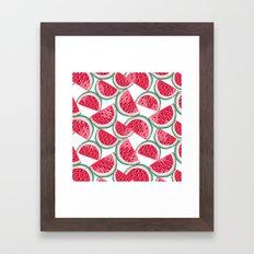 watermelon white Framed Art Print