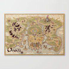 Unova Map Canvas Print