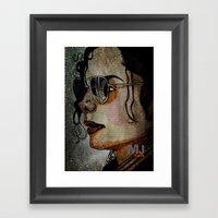 MJ In Profile Framed Art Print