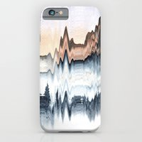 iPhone & iPod Case featuring A Mountain in Winter by Okti