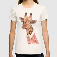 Giraffe Womens Fitted Tee Natural SMALL