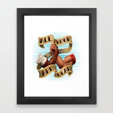 All Your Best Friends Are Dead Framed Art Print