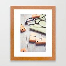 A Break in the Game Framed Art Print