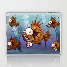 Psycho Fish Piranha with Bone Laptop & iPad Skin