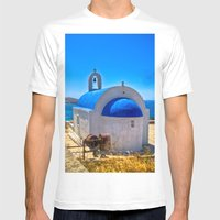 Mykonos, Greece Mens Fitted Tee White SMALL