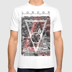 London City. White Mens Fitted Tee SMALL