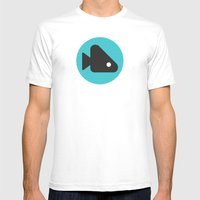 Fishie Mens Fitted Tee White SMALL