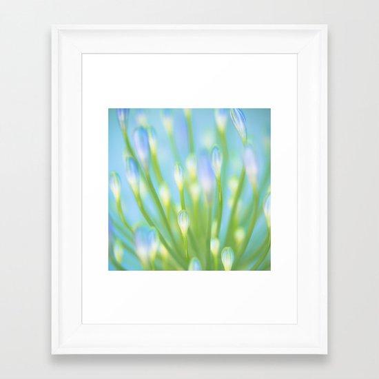 Blue & Green Framed Art Print