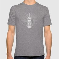 Beer Is Made By Man, Win… Mens Fitted Tee Tri-Grey SMALL