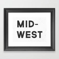 MID-WEST Framed Art Print