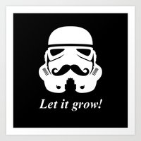 Bearded Trooper Art Print