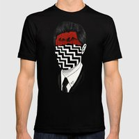 Twin Peaks Mens Fitted Tee Black SMALL
