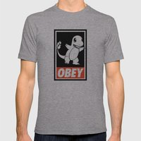 OBEY Charmander Mens Fitted Tee Athletic Grey SMALL