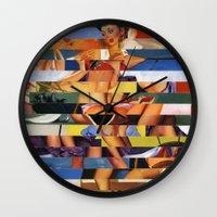 Glitch Pin-Up Redux: Mad… Wall Clock