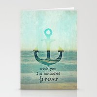 anchor Stationery Cards featuring ANCHOR by Monika Strigel