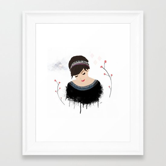 ONE SWEET GIRL Framed Art Print