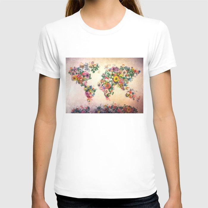 world map T shirt by Bekim ART Society6