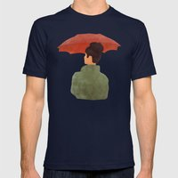 Umbrella Mens Fitted Tee Navy SMALL