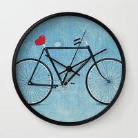 I ♥ BIKES Wall Clock